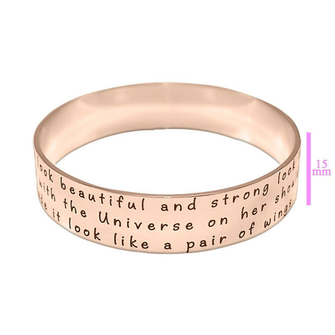 Wide Endless Bangle-Silver-Diameter 6.5 cm / Length 20.4 cm (STANDARD)- BELLE FEVER Personalised Jewellery