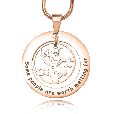 Worth Melting Necklace-Rose Gold- BELLE FEVER Personalised Jewellery