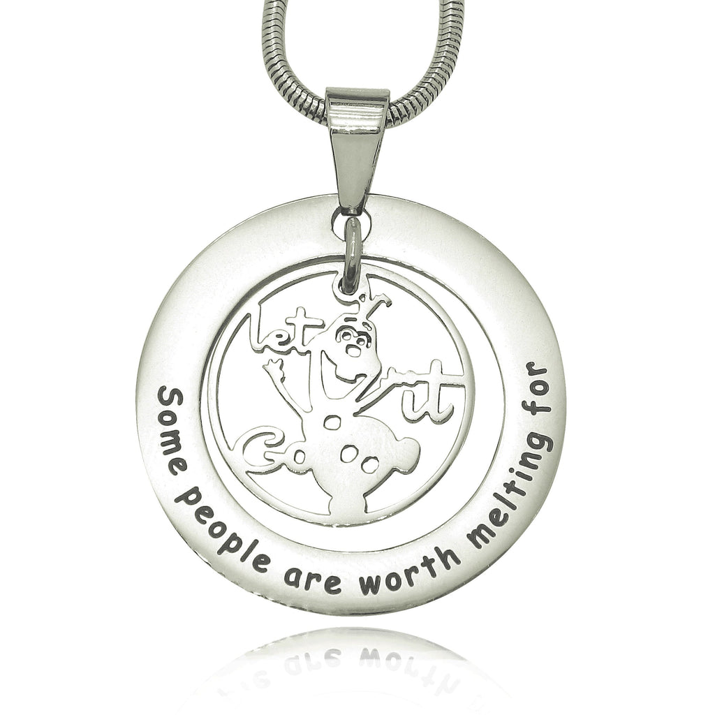 Worth Melting Necklace-Silver- BELLE FEVER Personalised Jewellery