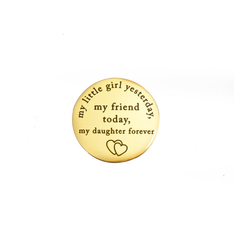 Yesterday Today Forever - Dream Locket Disc Charm-Medium Gold- BELLE FEVER Personalised Jewellery