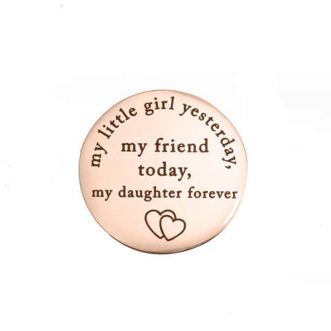 Yesterday Today Forever - Dream Locket Disc Charm-Medium Silver- BELLE FEVER Personalised Jewellery