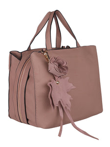 Flower Detail Handbag-Pink