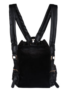 Glam Sequinned Backpack-Black