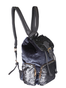 Glam Sequinned Backpack-Grey