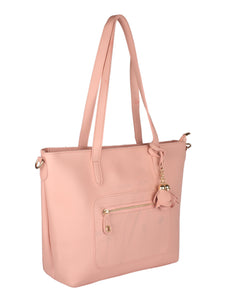 Structured Tote with Flower Charm