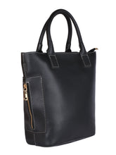 Load image into Gallery viewer, Classic Side Zip Handbag-Black
