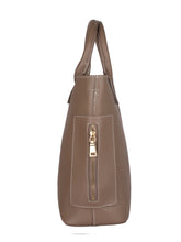 Load image into Gallery viewer, Classic Side Zip Handbag-Dark Brown
