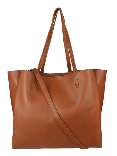 Neutral Roomy Tote - Tan