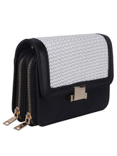 Load image into Gallery viewer, Two-toned Weave Sling-Black