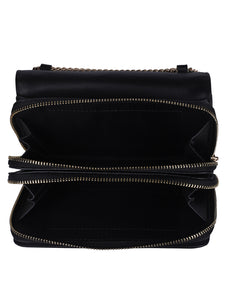 Two-toned Weave Sling-Black