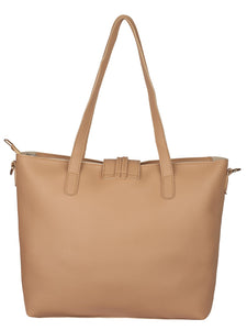 Single Tassel Structured Tote-Beige