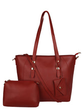 Load image into Gallery viewer, Back to Basics Structured Tote-Red