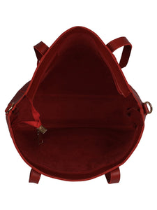 Back to Basics Structured Tote-Red