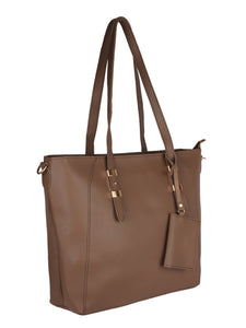 Back to Basics Structured Tote-Brown