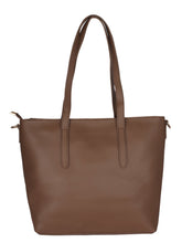Load image into Gallery viewer, Back to Basics Structured Tote-Brown