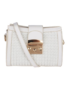 Neutral Weave Sling-White