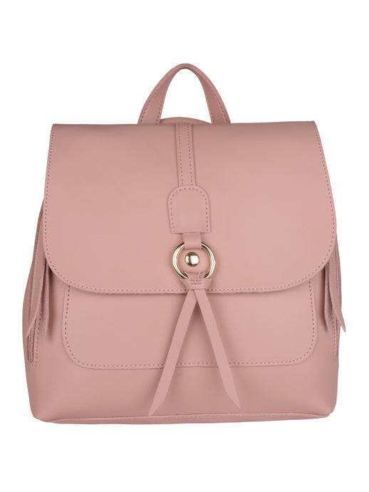 Ribbon Backpack-Peach