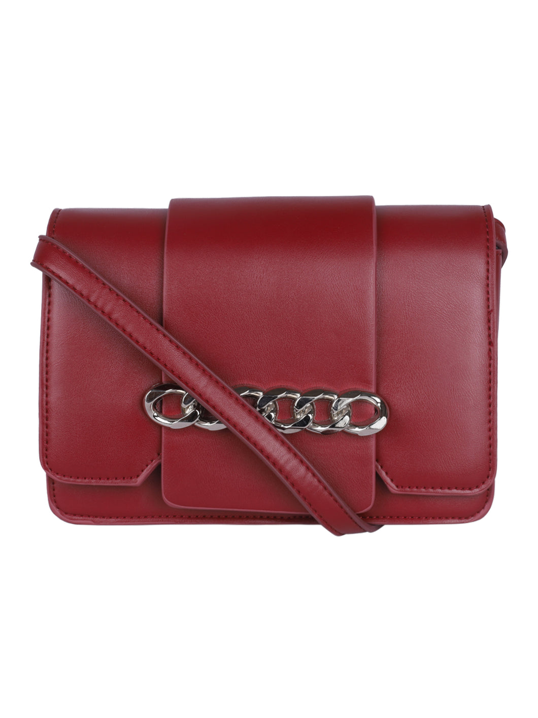 Chain Detail Clutch-Red
