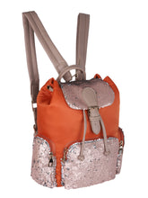 Load image into Gallery viewer, Orange Sequinned Backpack