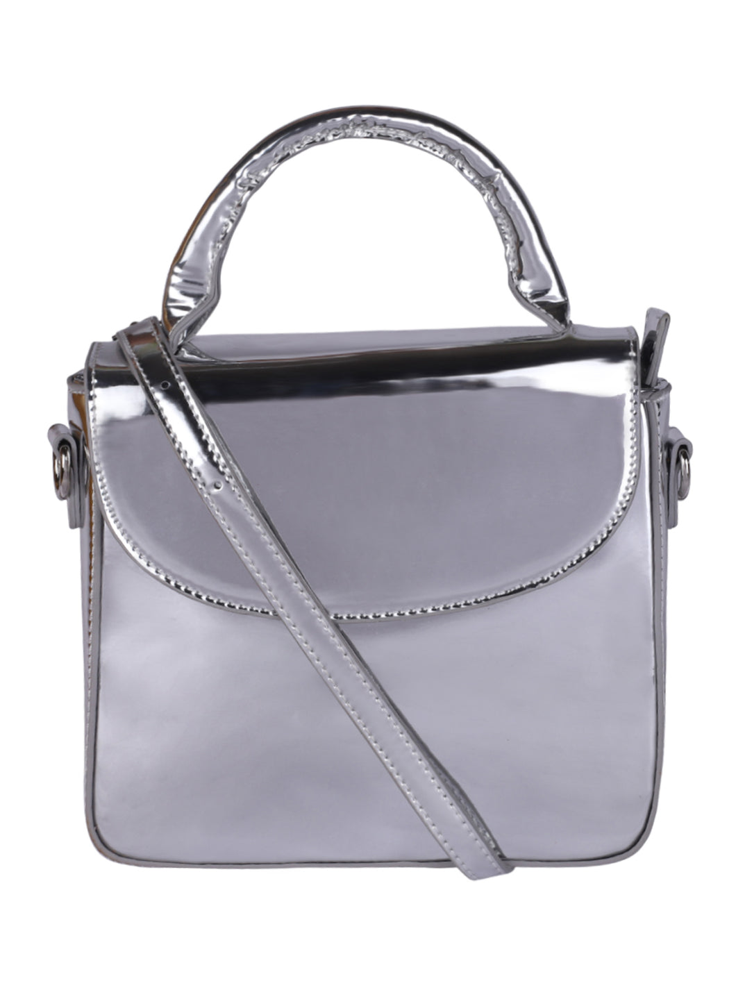Box Metallic Sling-Silver