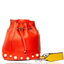 Load image into Gallery viewer, Pearly Bucket Pouch Sling - Red