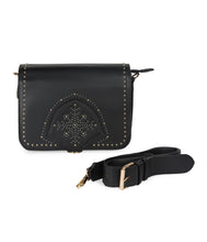 Load image into Gallery viewer, Snowflake Gold Stud Sling-Black