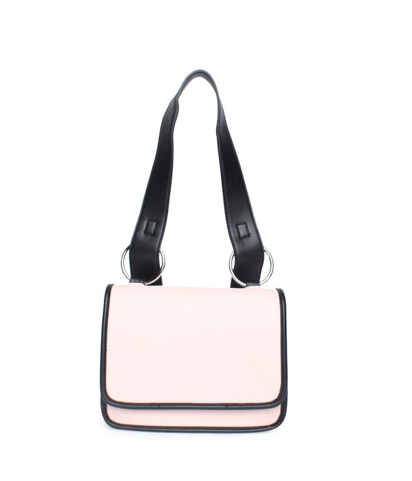 Black Borders Handbag-Pink