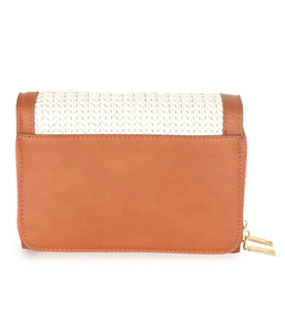 Two-toned Weave Sling-Tan