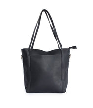 Load image into Gallery viewer, Minimalistic Large Tote-Black