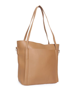 Minimalistic Large Tote-Brown