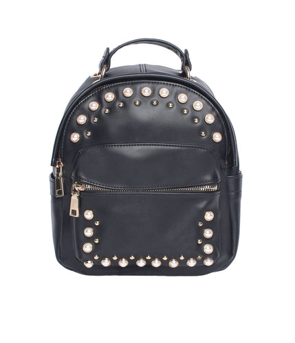 Pearly Vibes Backpack-Black