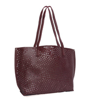 Load image into Gallery viewer, The Ultimate Cutwork Handbag-Maroon