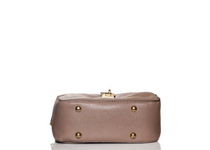 Boxy Flower Me Buckle Sling- Brown