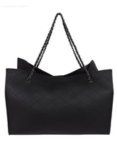 Load image into Gallery viewer, Basic Neutral Tote-Black