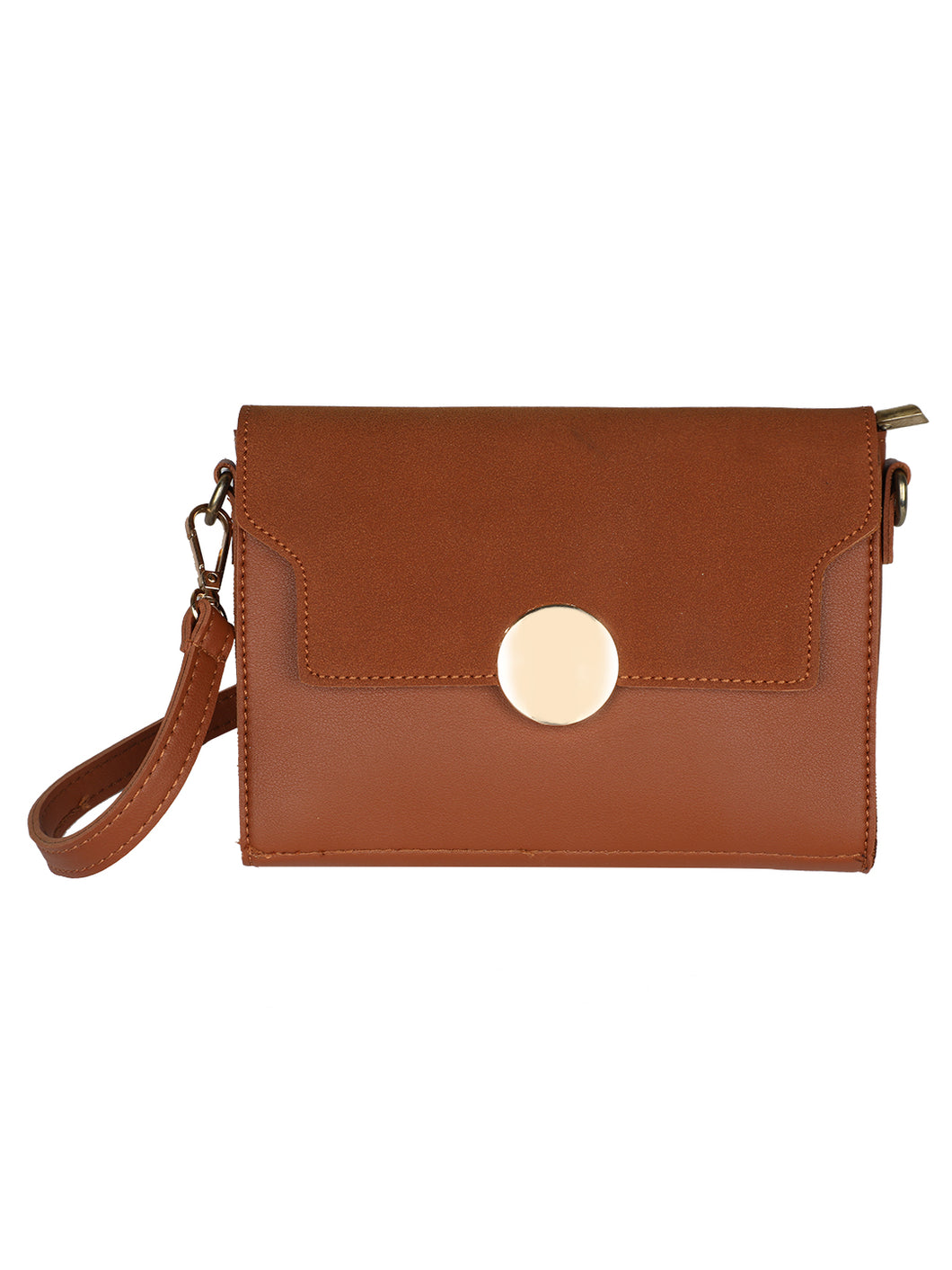 Button Me Sling - Brown