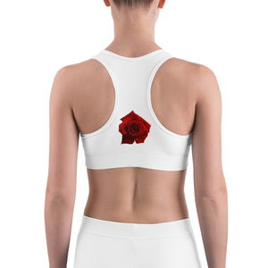 Crazy for Roses Sports Bra