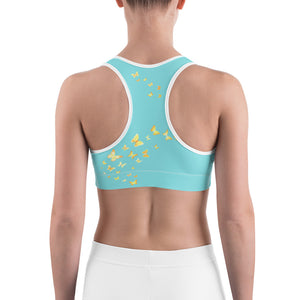 Butterfly Happiness Sports Bra