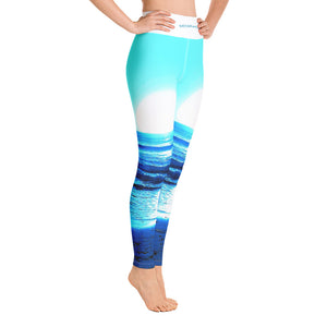 Blue Sunset Yoga Leggings