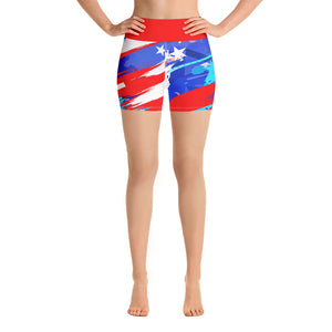 Star Spangled Yoga Shorts