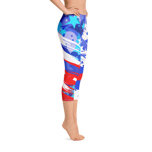 Star Spangled Capri Leggings