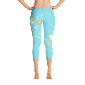 Butterfly Happiness Capri Leggings