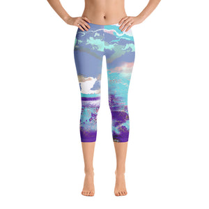 Electric Sea Capri Leggings