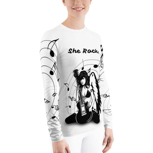Rock On Rash Guard Shirt