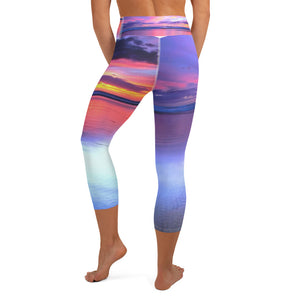 Rainbow Beach Yoga Capri Leggings