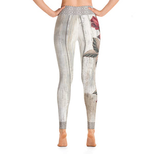Vintage Roses Yoga Leggings