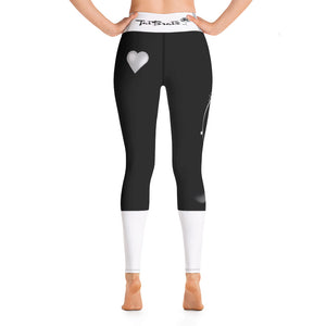 Love Dreams Black White Yoga Leggings