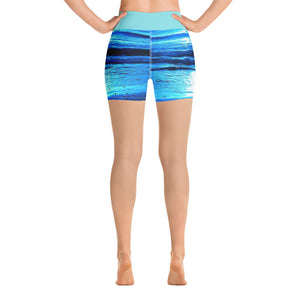 Blue Sunset Yoga Shorts