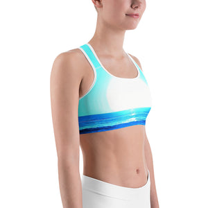 Blue Sunset Sports Bra