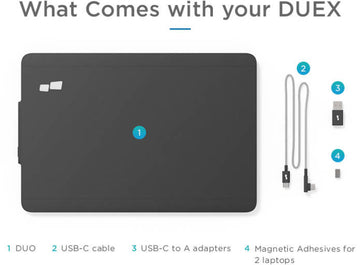 DUEX: The on-the-go dual screen laptop monitor