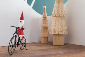 Santa Bicycle Ornament